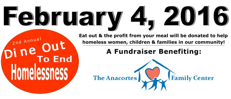 Dine Out to End Hunger Benefit, Thursday, Feb. 4th, 6-9 pm