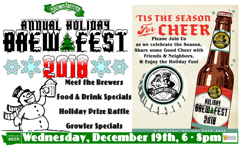 Holiday Brew Fest, Wednesday, December 19th, 2018 6-8pm