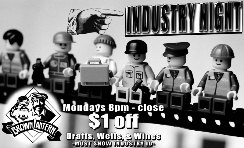Industry Night every Monday at 8pm