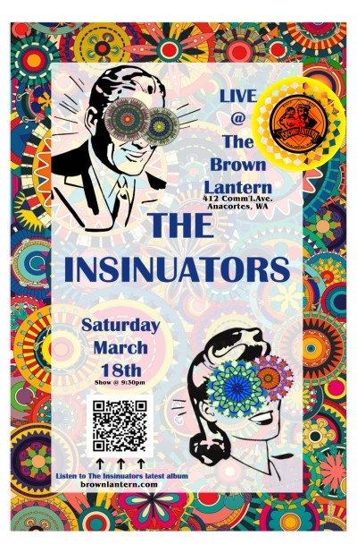 The Insinuators, Saturday, October 22nd, 9:30pm