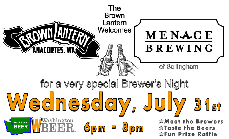 Brewer's Night with Menace Brewing, Wednesday, July 31st, 2019 6-8pm