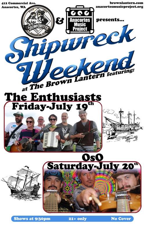 Shipwreck Weekend, Friday, July 19th and Saturday, July 20th, 2019 @ 9:30pm